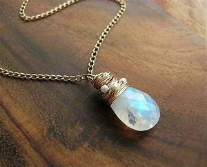 moonstone necklace with freshwater pearls by sarah hickey ...