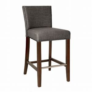 Marc Bar Stool - Sepia Fabric - Luxe Home Company