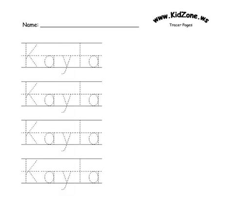 custom name tracer pages phdc preschool names