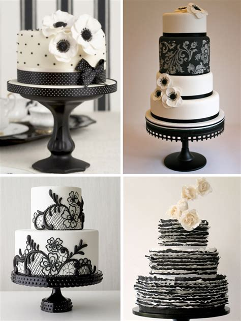 black and white wedding cake ideas weddings by lilly