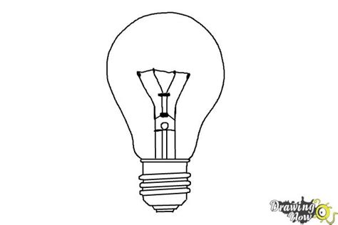 How To Draw A Light Bulb by How To Draw A Light Bulb Drawingnow