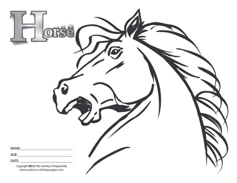 Horse Head Coloring Pages Sketch Coloring Page