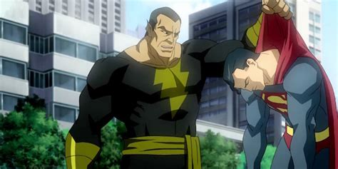 superman fight black adam  shazam heres