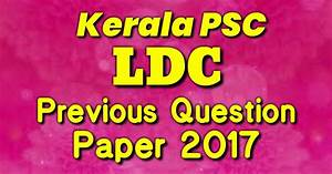 Kerala Psc Lower Division Clerk   Ldc   Previous Question