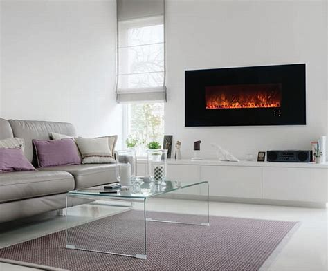 modern flames   electric fireplace wall recessed