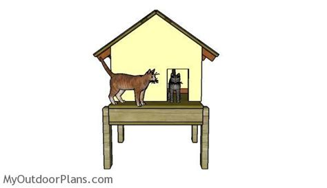 cat house roof plans myoutdoorplans  woodworking