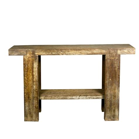 rustic wood sofa table rustic 10 holes reclaimed wood sofa table hall console