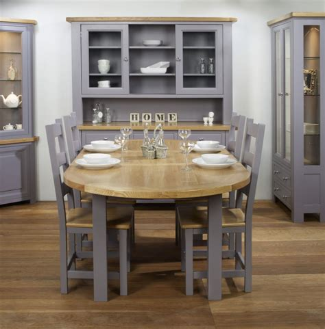 charltons bretagne solid oval butterfly extending dining table