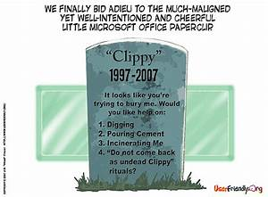 Death of the Microsoft Office paper clip - Journalistopia