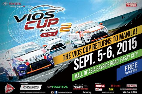 Mall Of Toyota by Toyota Gears Up For The Vios Cup S 3rd In Sm Mall Of