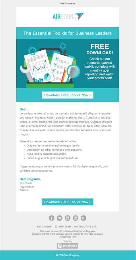 Email Template Top 8 B2b Email Templates For Marketers In 2017