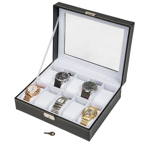 boite de rangement montre coffret pour 10 montres bo 238 te 224 montre bo 238 tier rangement bijoux noir blanc