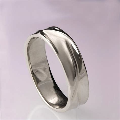 waves  platinum ring platinum wedding ring