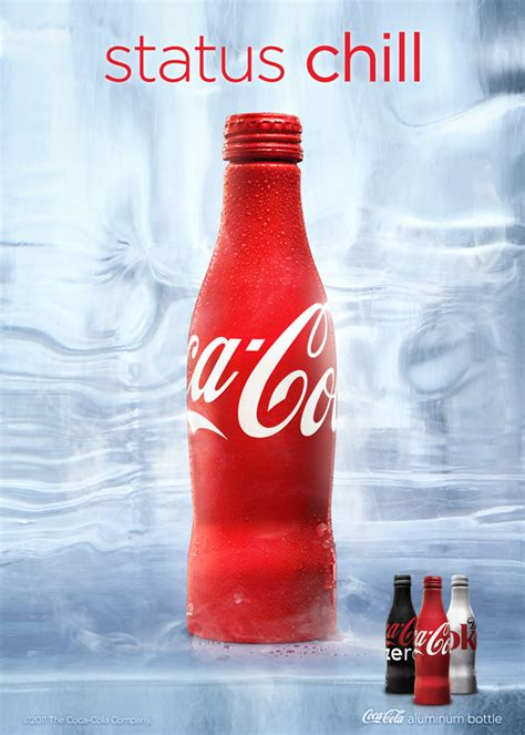 coca cola aluminum bottle ads