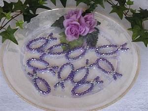 Deko Fische Zum Aufhängen : 10 fische lila perlen tischdekoration deko konfirmation ~ Lizthompson.info Haus und Dekorationen