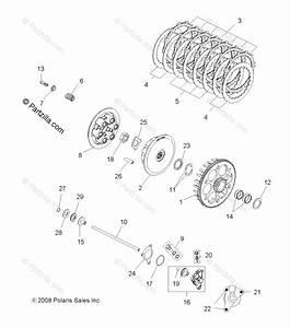 Polaris Atv 2009 Oem Parts Diagram For Engine  Clutch