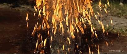 Fire Rain Matchstick Bomb Slow Motion Exploding