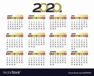 Calendar 2020 Vector Free Download Images 9