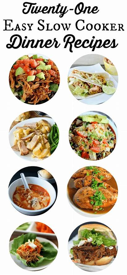 Cooker Slow Easy Recipes Dinner Meals Meal