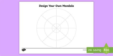 * New * Ks1 Design Your Own Mandala Worksheet  Hinduism, Hindu Faith, Art