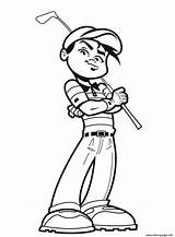 Coloring Sports Golfer Pages Awesome Printable sketch template
