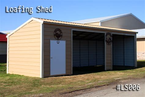 loafing shed kits missouri loafing sheds
