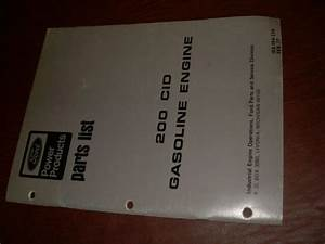 Ford 200 Gas Engine Parts Catalog List Manual Industrail