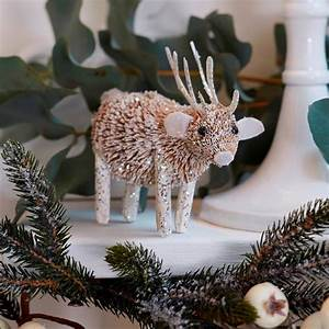 Glitter, Woodland, Reindeer, Decoration, By, The, Christmas, Home