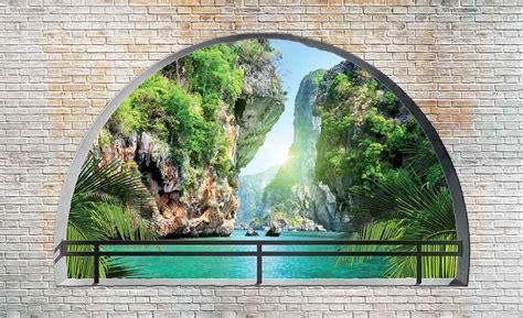 Fototapete Fenster Aussicht by Fototapete Tapete Tropischer Fenster Ausblick Bei