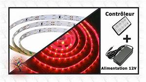 Ruban Led Rouge : ensemble ruban lumineux led rouge 5m ~ Edinachiropracticcenter.com Idées de Décoration