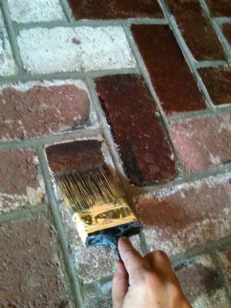 stain brick not paint used behr paint from home depot if i get this house i will redo our