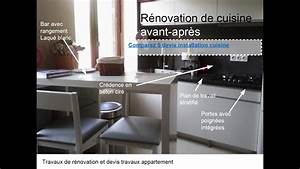 Cuisine Avant Après : r novation cuisine avant apr s youtube ~ Voncanada.com Idées de Décoration