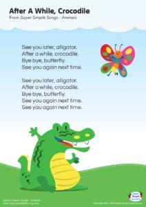 crocodile lyrics poster super simple