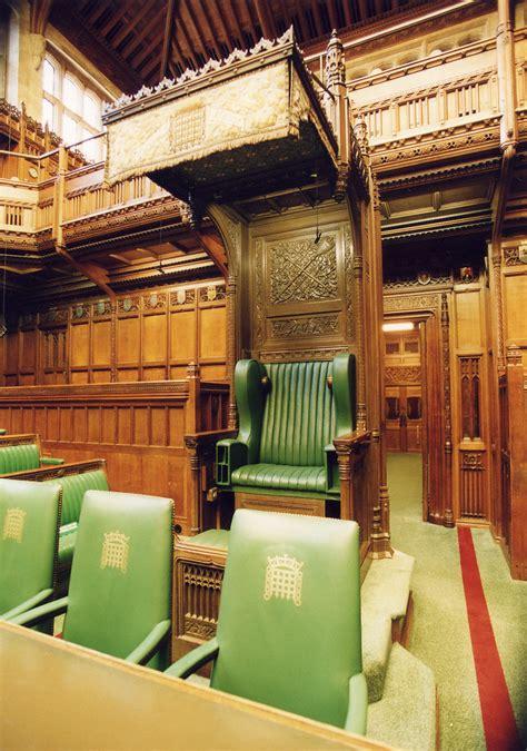 House of Commons Chamber: Speaker's chair   The Speaker of ...