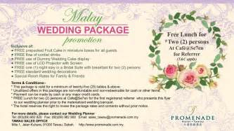 wedding packages packages promenade hotel tawau