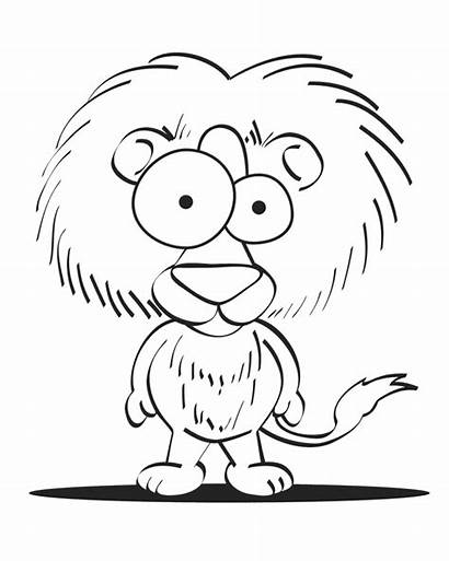 Coloring Pages Crazy Printable Lion Cartoon Critters