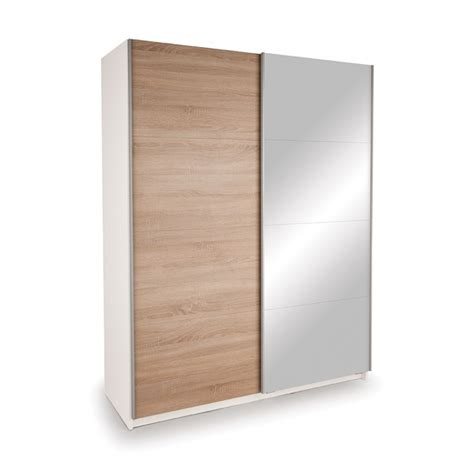 One Door Mirrored Wardrobe by White Wardrobe With Mirrored And High Gloss Sliding Doors