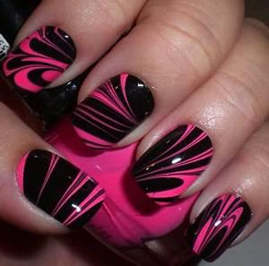 Easy Black And Pink Nail Art | www.pixshark.com - Images ...