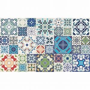 Stickers Carreaux De Ciment : 60 stickers carreaux de ciment tanoura cuisine ~ Premium-room.com Idées de Décoration