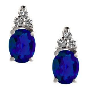 emerald cut blue sapphire birthstone diamond sterling