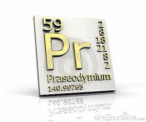 Praseodymium Form Periodic Table Of Elements Royalty Free ...