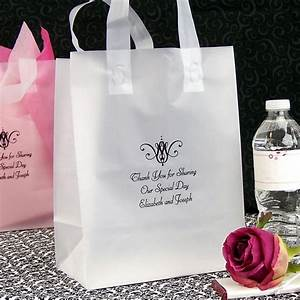 wedding gift bags personalized 8 x 10 frosted plastic With personalized wedding favor bags