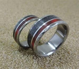 titanium rings meteorite rings wedding rings wedding With custom made mens wedding rings