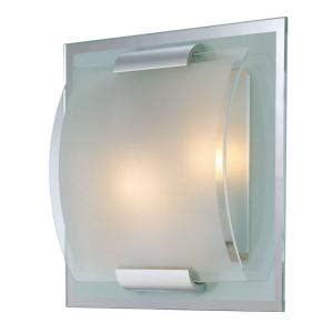 clear glass ls illumine reva 2 light polished steel sconce with clear and