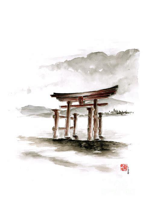Japanisches Tor Kaufen by Torii Gate Painting By Mariusz Szmerdt