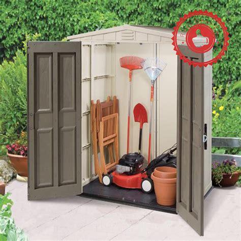 Keter Storage Shed Shelves by Keter Factor 6x3 Garden Shed Outdoor Storage Wood Shelf