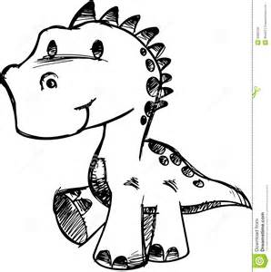 How to Draw Cute Dinosaur Drawings