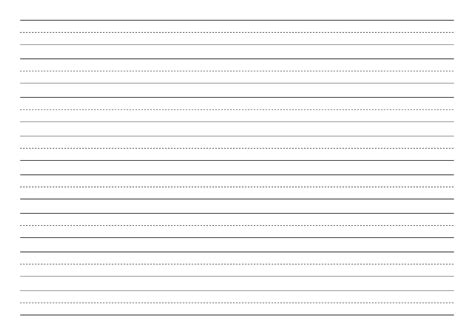 penmanship paper with eight lines per page in landscape