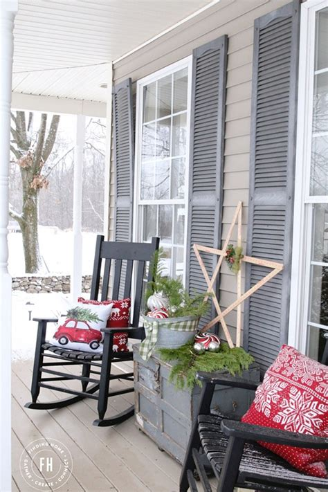 front porch christmas decorating finding home