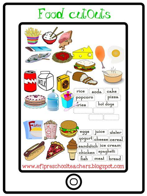 esl efl preschool teachers food theme 848 | cutout